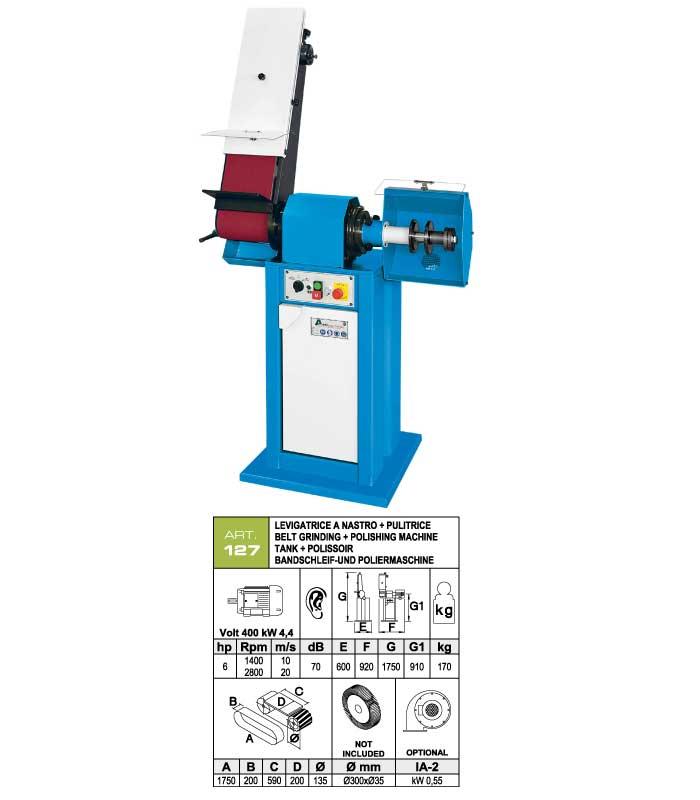 ART.127 - Swing belt grinding machine 200x1750 + Polishing machine Ø300 mm - st1116