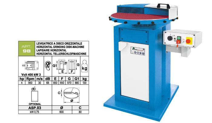 ART.98 - Horizontal disc belt grinding machine Ø600 mm - st779