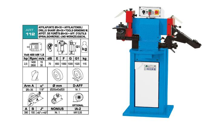 ART.112 - Tools sharpening machine - st807