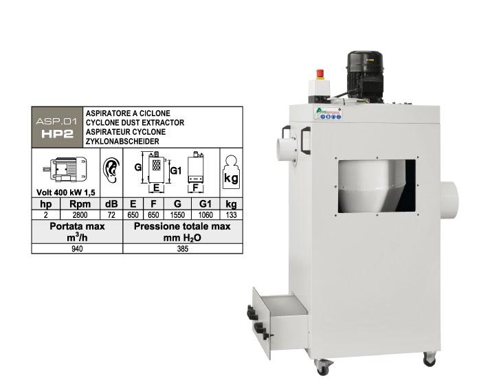ASP.01-HP2 - Aspiratore per polveri - st811