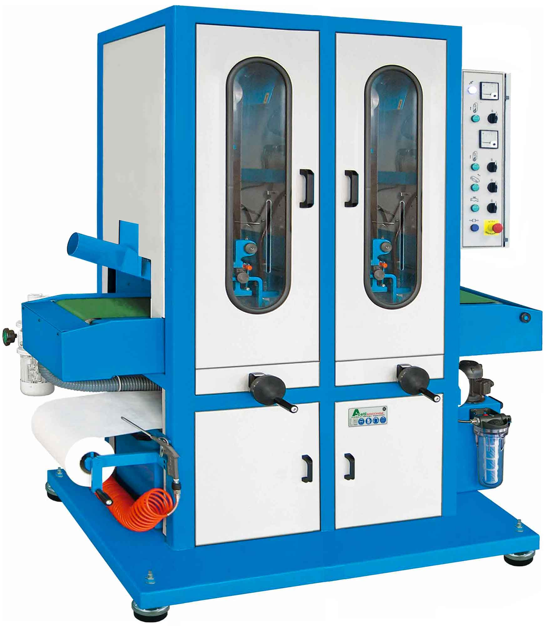 ART.76-2N - Polishing machine for flat surfaces by wet system | 2 Belt grinding units